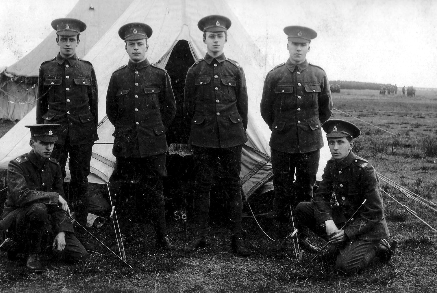 Young Soldiers At Camp c.1914