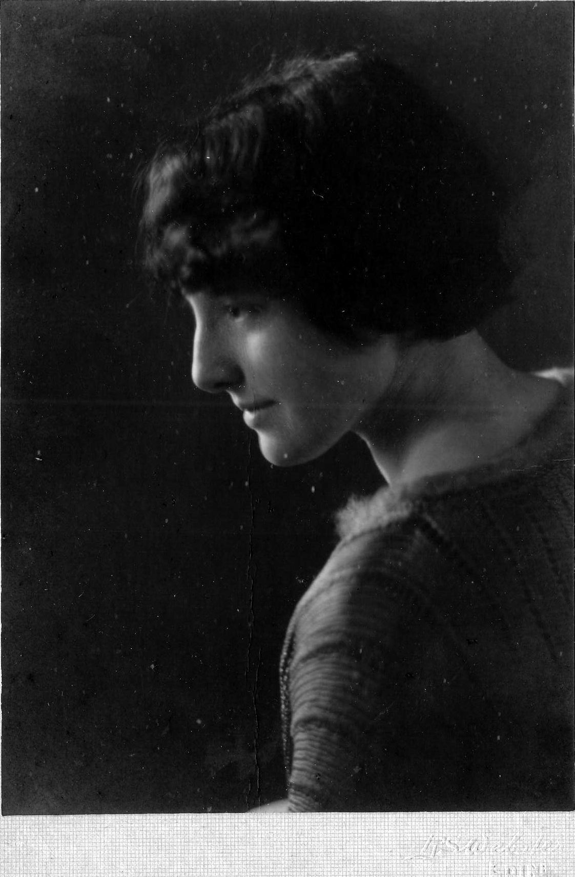 Studio Profile Portrait Of Young Woman 1920s