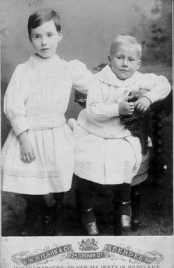 Studio Portrait Two Victorian Boys 1880s