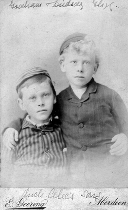 Studio Portrait Two Young Brothers 1880s