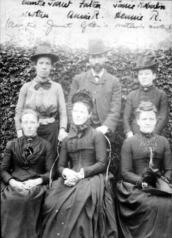 Victorian Ladies And Gentleman In Garden 1880s