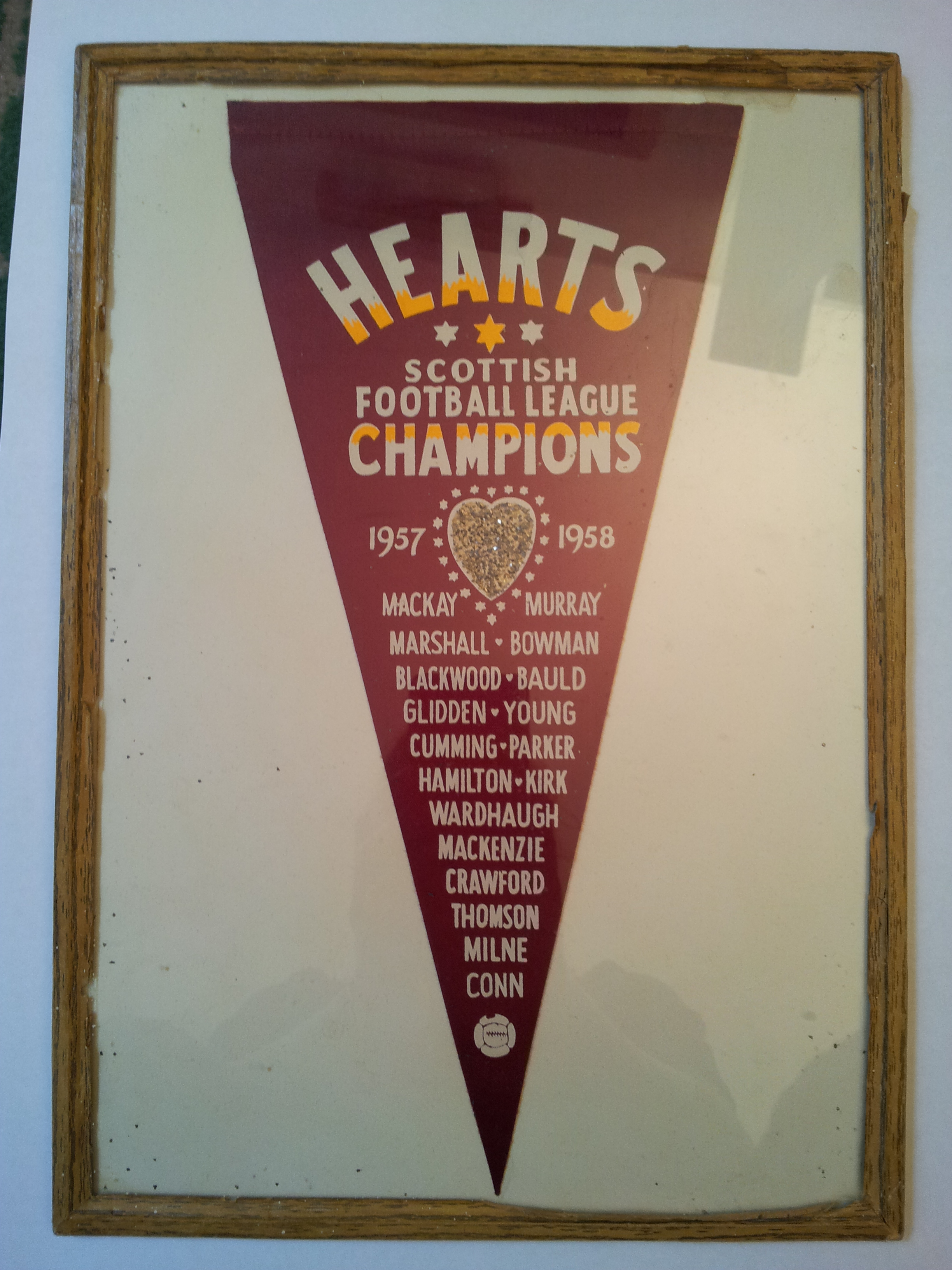 Hearts Scottish Football League Champions 57-58 banner