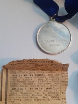 Wester Hailes Dux Medal 1955/6 Christine Laidlaw