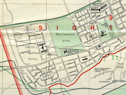 Street plan of Sighthill Prefabs and Industrial Estate in 1965