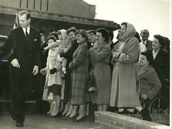 Royal Visit to William Thynes Sighthill 1960