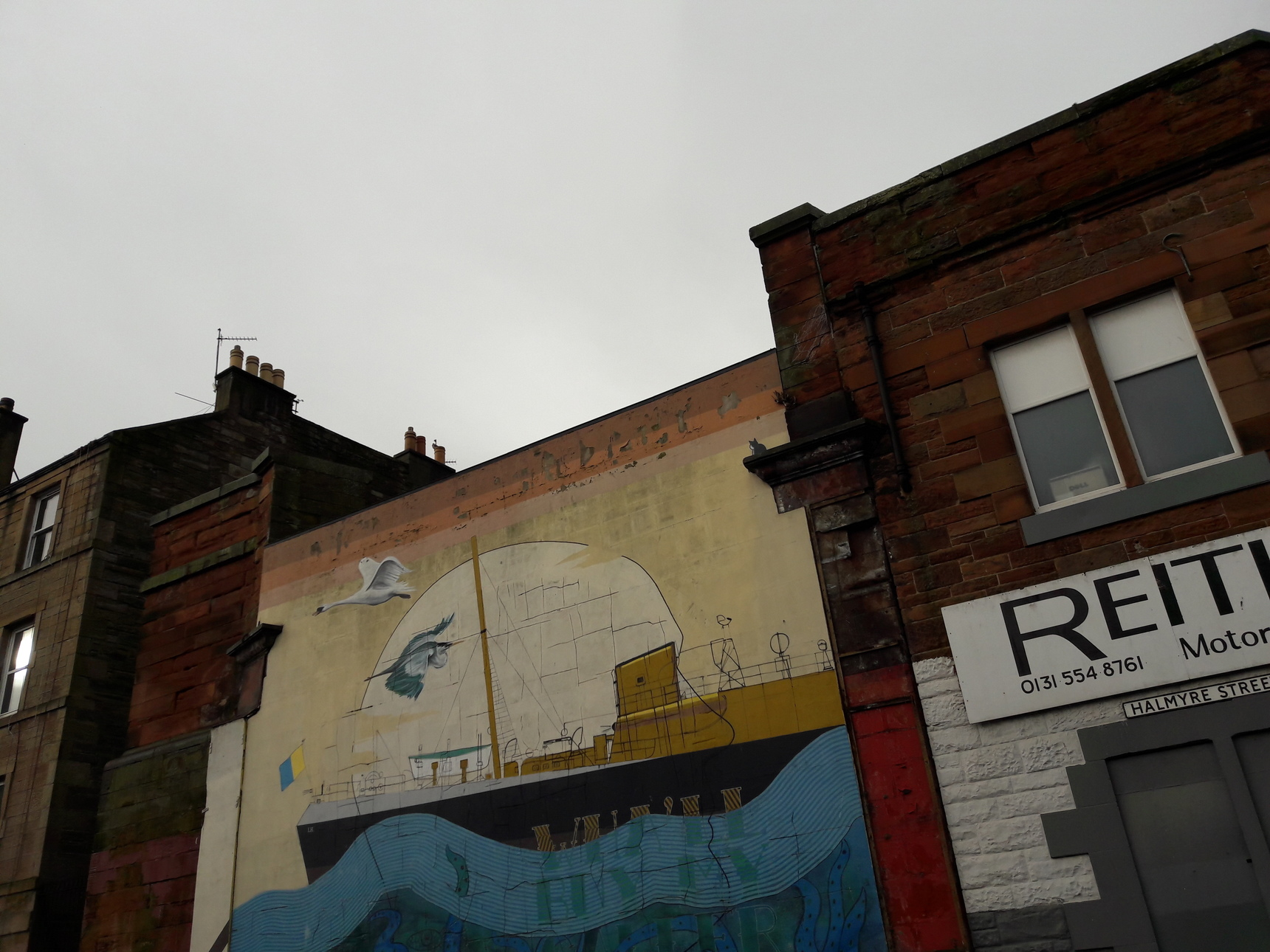 Mural at Halmyre Street, Leith