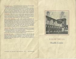 Picture 7 - New Health Centre Calder Road Information Leaflet 1953{1}