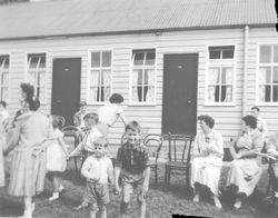 Mothers With Children Playing At Holiday Camp 1950
