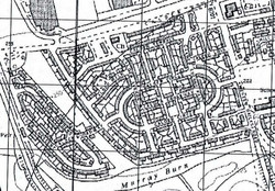 Map showing site of Wester Hailes School 1960