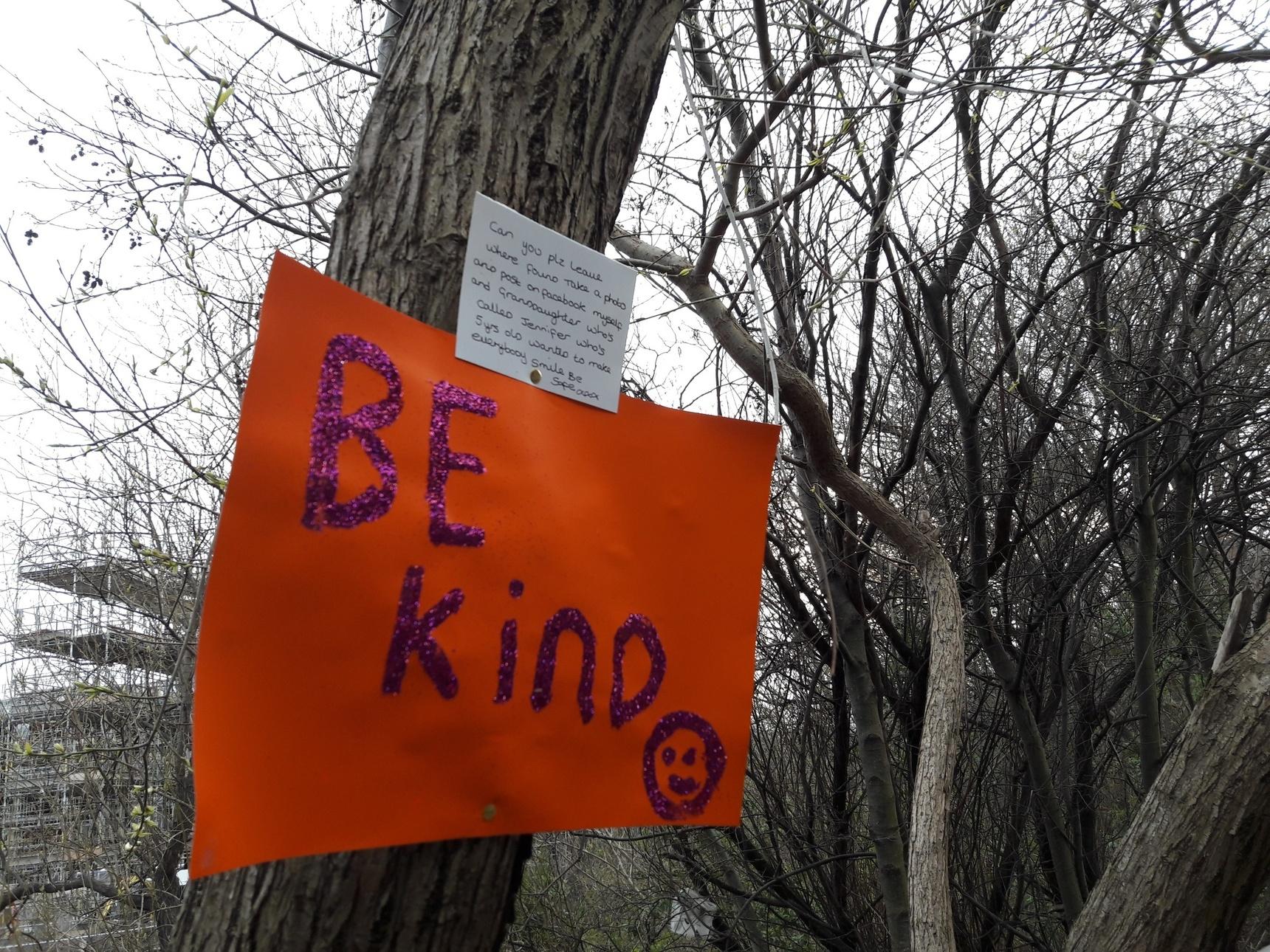 Guerilla art work - Be kind