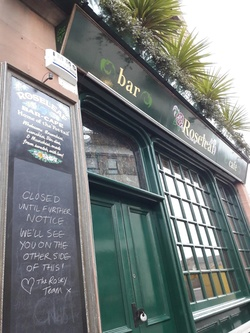 Roseleaf bar, doors closed due to coronavirus pandemic