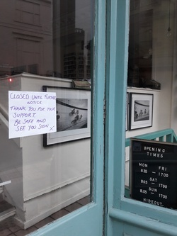 Cafe closed due to coronavirus pandemic