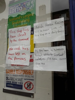 Bookmakers closed due to the coronavirus pandemic