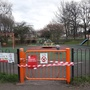 Victoria Park play area, closed due to the coronavirus pandemic