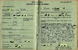 WAAF pass book