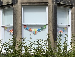 Rainbow window bunting