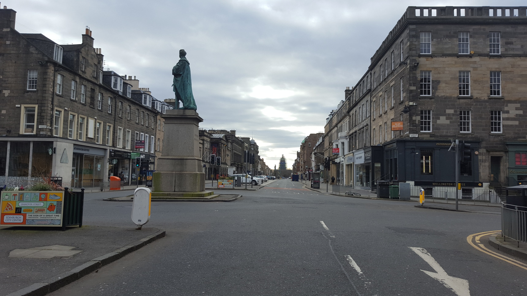 George Street, looking towards West Register House at Charlotte Square