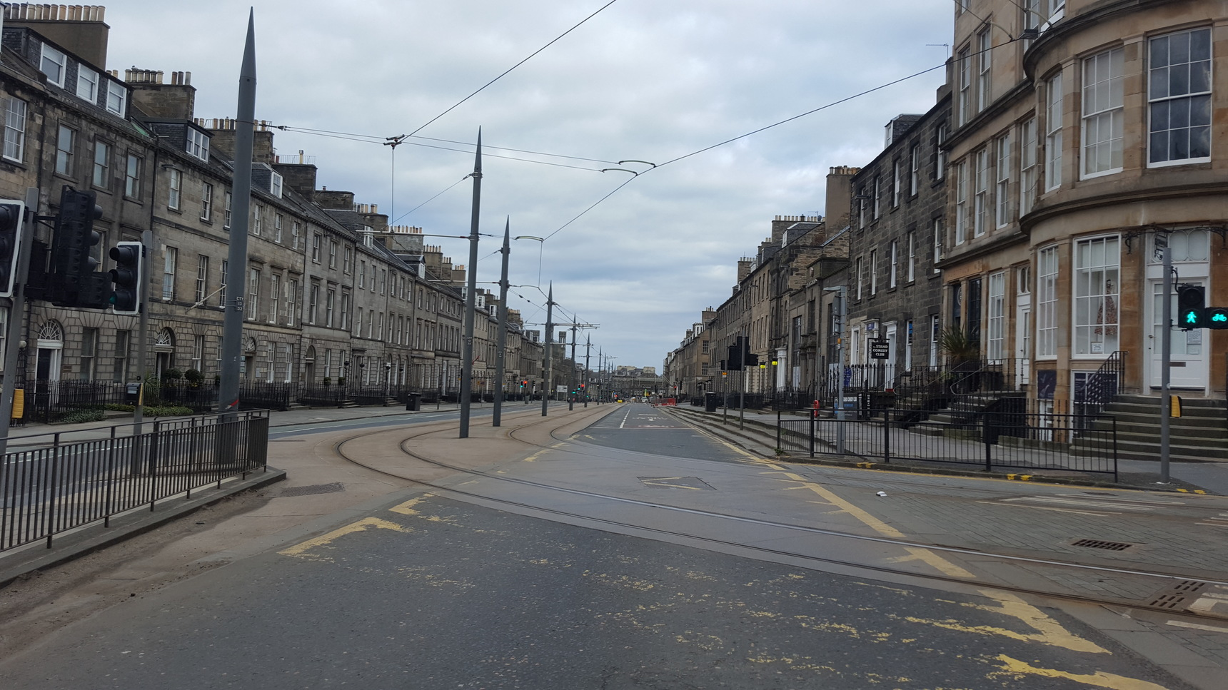 York Place looking east from the junction with North St Andrew Square