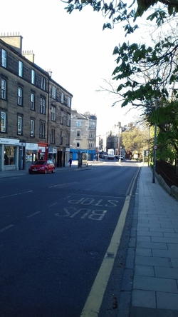 An empty Morningside Road