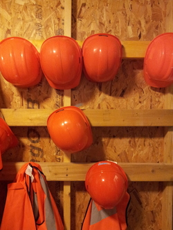Hard hats, Riddle's Court
