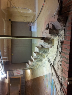 Staircase, renovation works, Riddle's Court