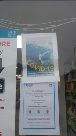 Carrick Knowe Pharmacy - Covid19 poster