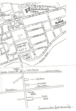 Sketch Map 0f Wester Hailes Road Sighthill in the1950s