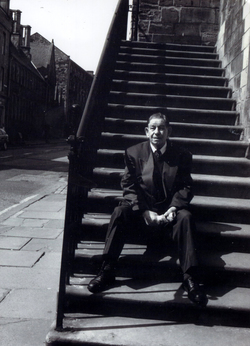 Gentleman Sitting On The Steps Of The Canongate Tolbooth 2000s