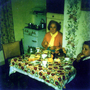 Mother And Son At Kitchen Table In Their Canongate Home c.1962
