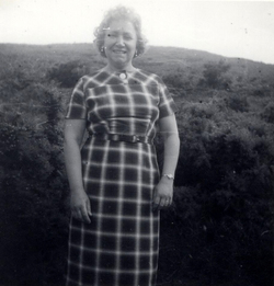 Woman Standing By Hillside c.1960