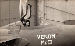 Boy In Cockpit Of RAF Jet Plane c.1960