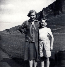 Mother And Son In Holyrood Park c.1960