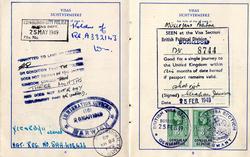 Post-War Travel Document For German National 1949