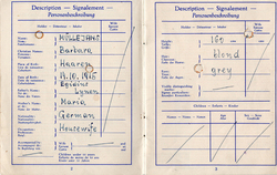 Post-War Travel Document For German National 1949