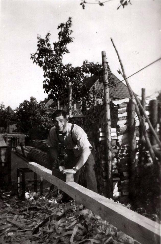 Off Duty RAF Serviceman Planing Beam c.1947
