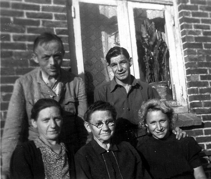 Courting Couple With Family c.1947