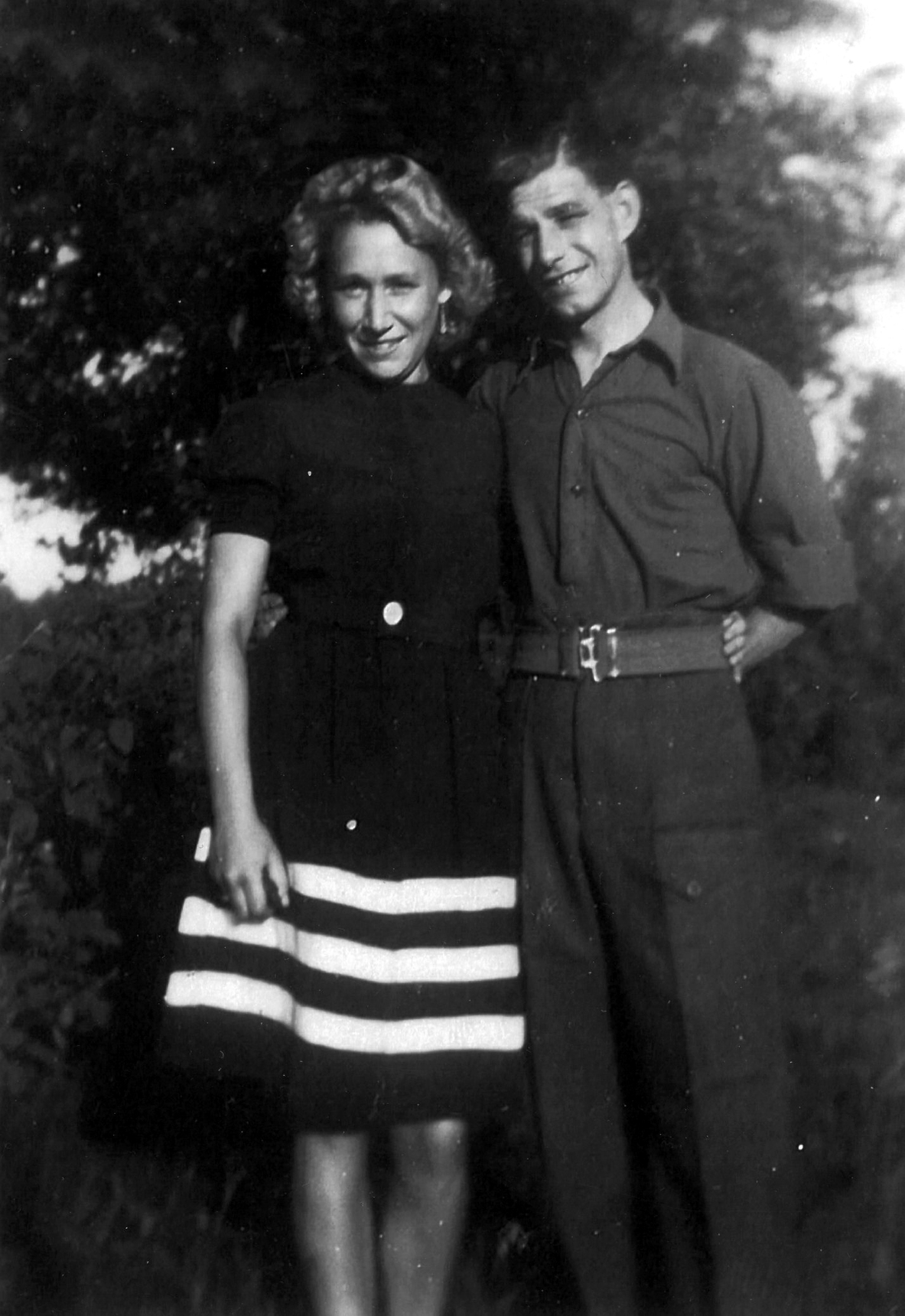 Peacetime Courting Couple, 6th July 1947