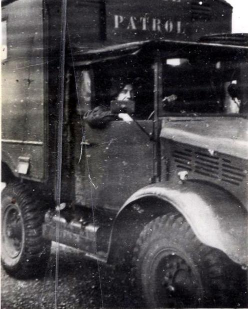RAF Regiment Serviceman At Wheel Of Patrol Truck, 29th October 1946
