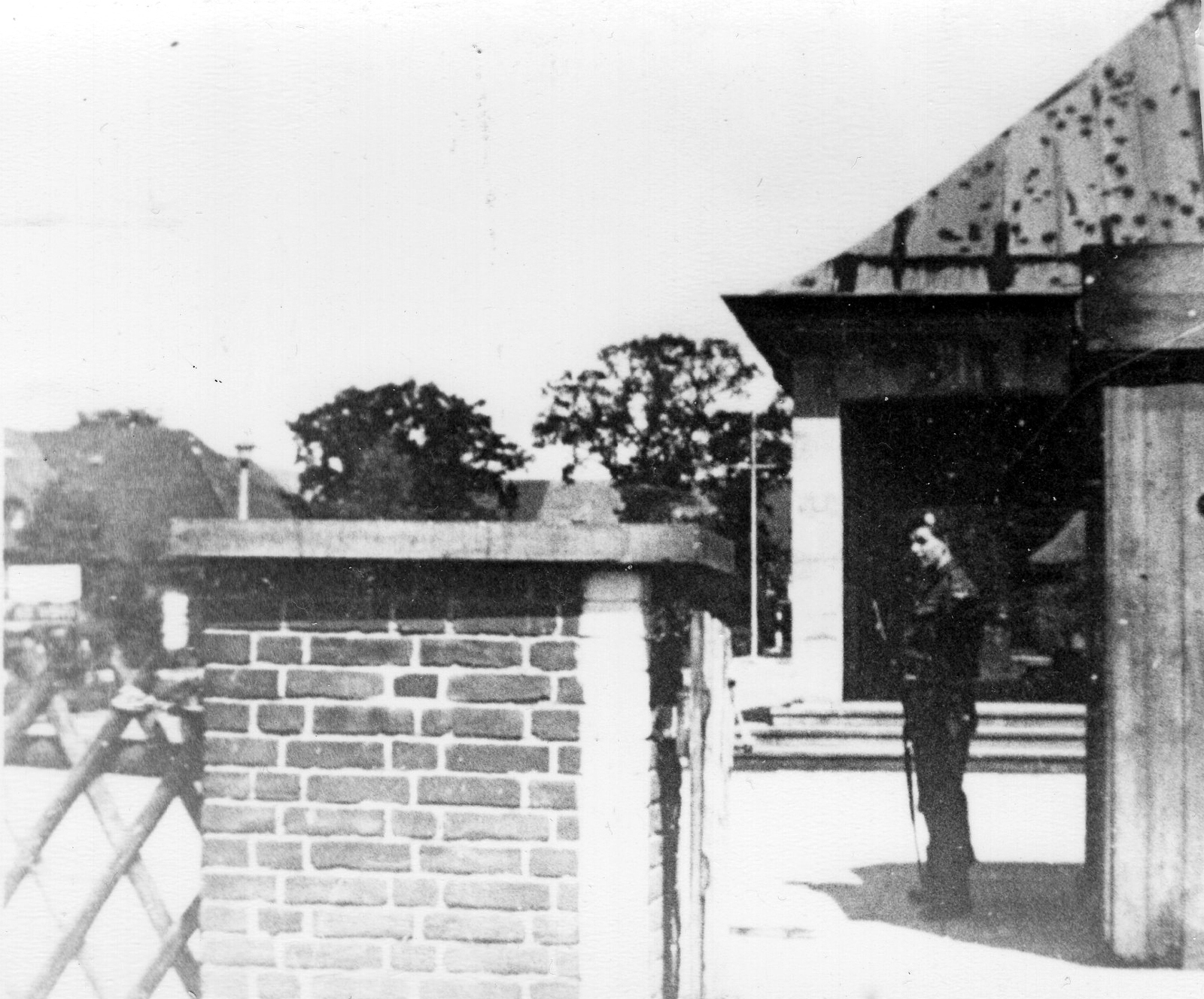 RAF Regiment Serviceman Standing On Sentry Duty, 85 Wing, Blankenese c.1947