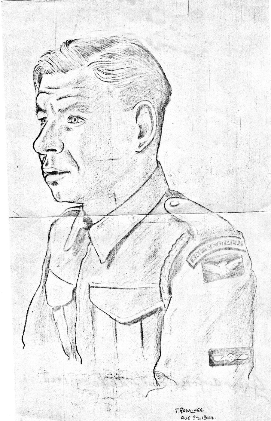 Sketch Of RAF Regiment Serviceman, 5th August 1944