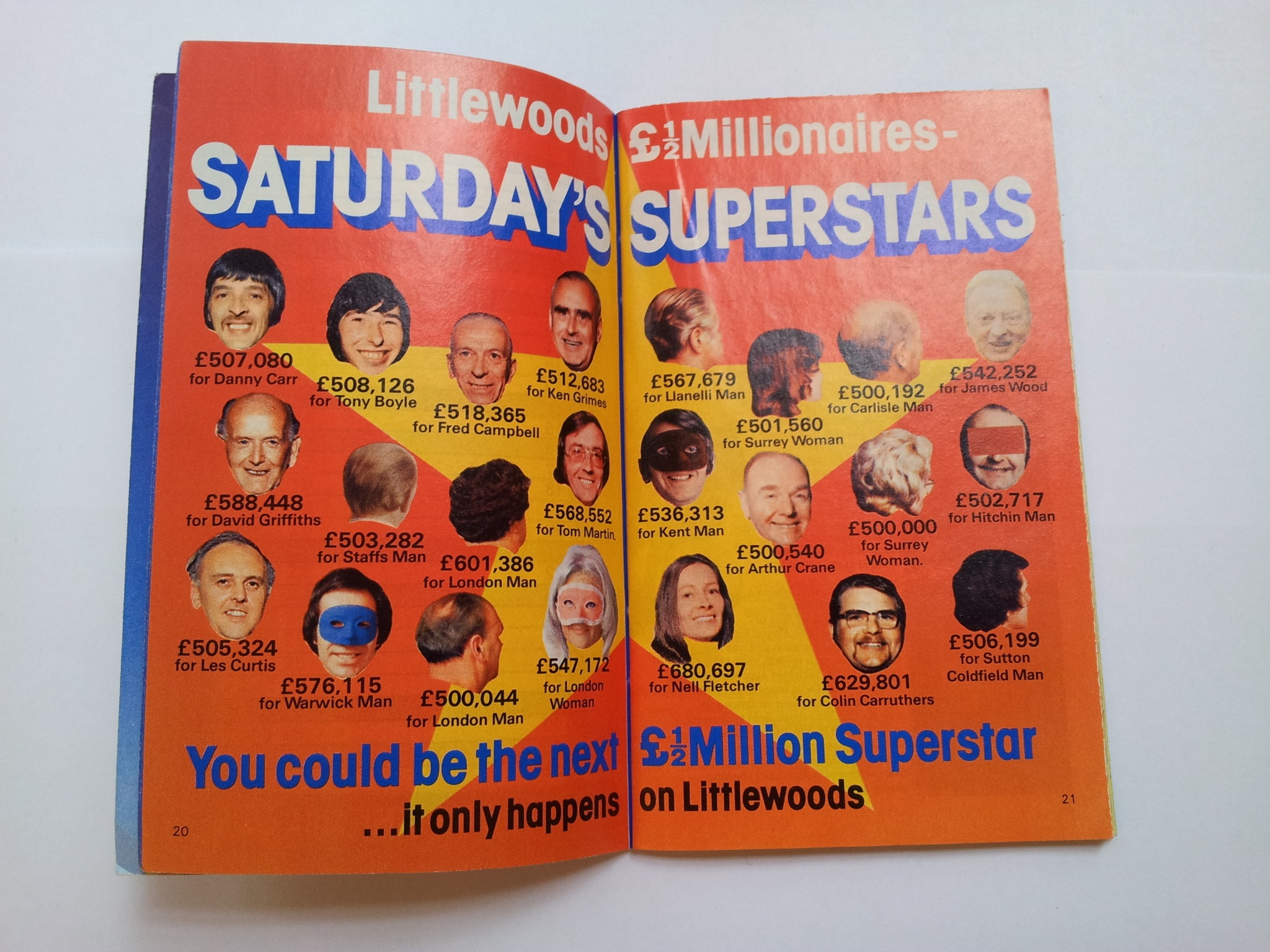 Littlewoods Saturday Superstars from the Littlewoods Pools