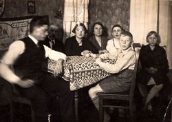 German Family Sitting Round Table c.1928
