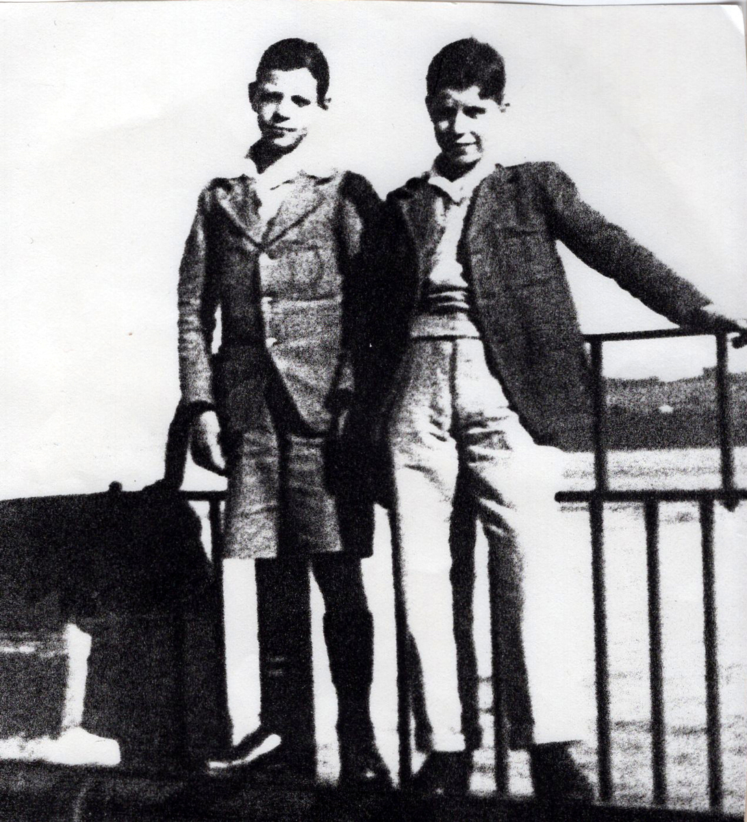 Two Teenagers Standing By Pier 1930s