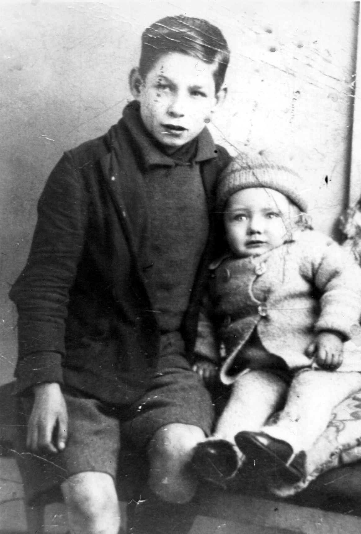 Studio Portrait Boy With Younger Boy c.1934
