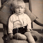 Studio Portrait Young Boy On Chair, 2nd June 1934