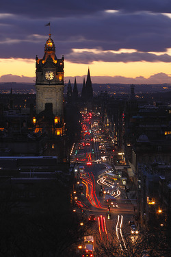 Princess Street at night