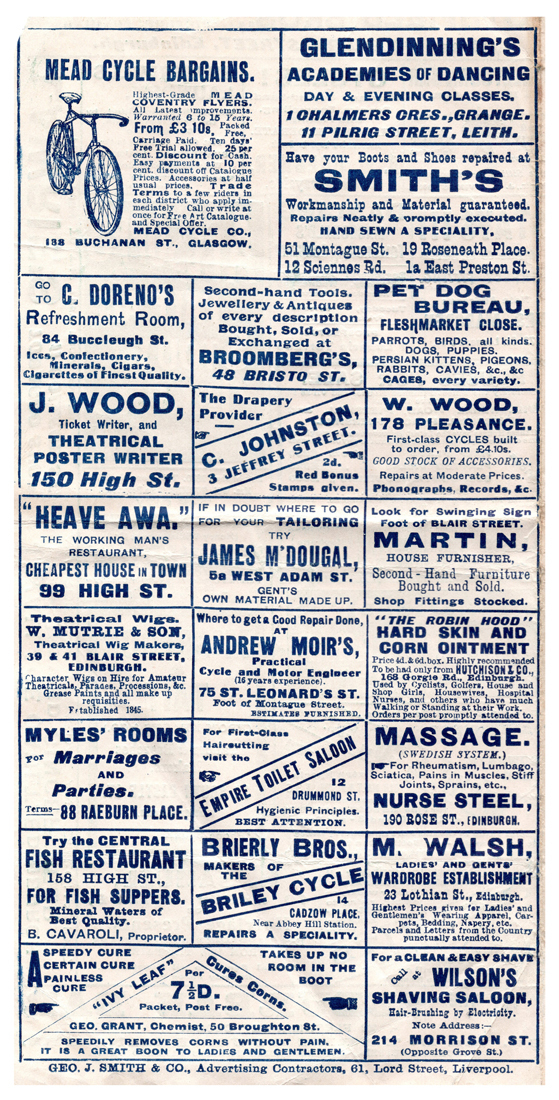 Empire Palace Theatre Programme, 20th April 1908