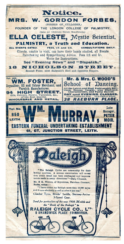 Empire Palace Theatre Programme, 20th April 1908
