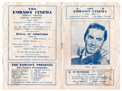 Embassy Cinema Magazine Programme, June 1950