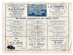 Embassy Cinema Magazine Programme, June 1950